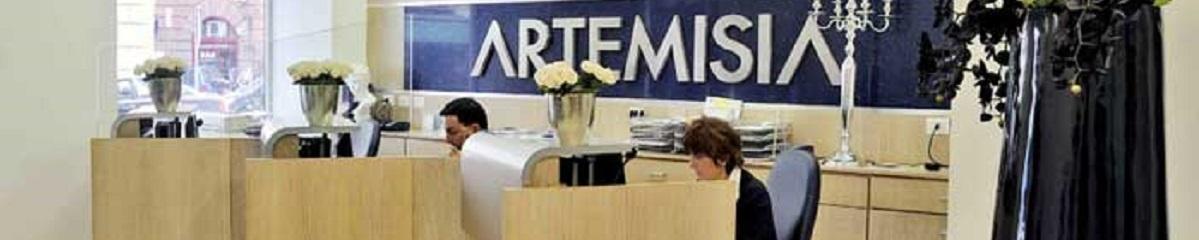 ingresso di una sede di Artemisia Lab a Roma